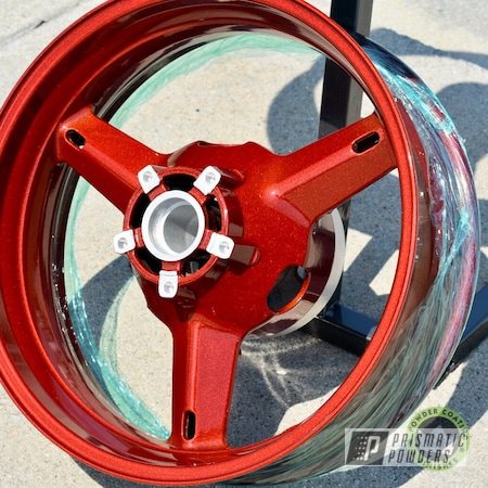 Powder Coating: Wheels,Illusion Copper PMS-4622,Clear Vision PPS-2974,Motorcycle Rims,Motorcycles