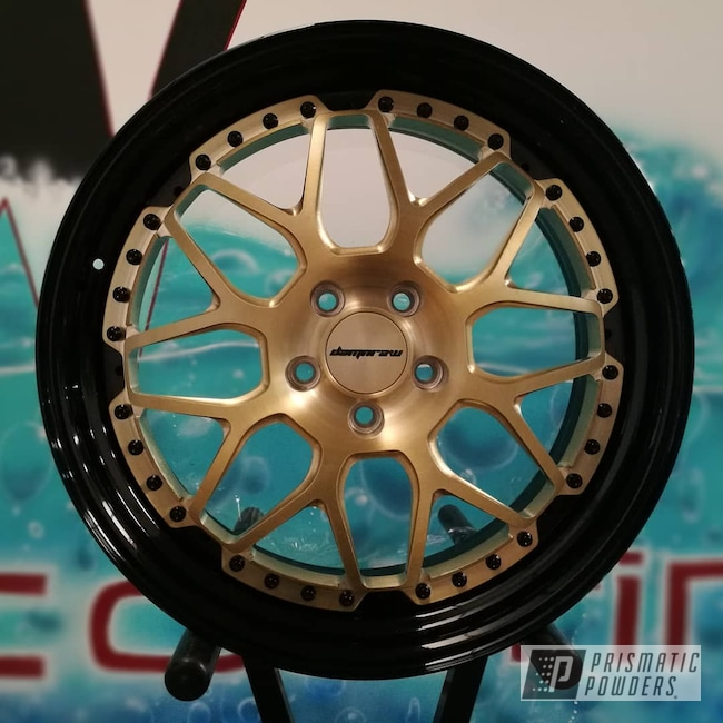 Powder Coating: Wheels,damnrawforgedwheels,Automotive,Powder Coated Lamborghini Wheels,Cayenne,Lamborghini Wheels,Bronze Chrome PMB-4124,3 Pieces,Lamborghini,Lambo Wheels,Forged Wheels,GLOSS BLACK USS-2603,Damnraw