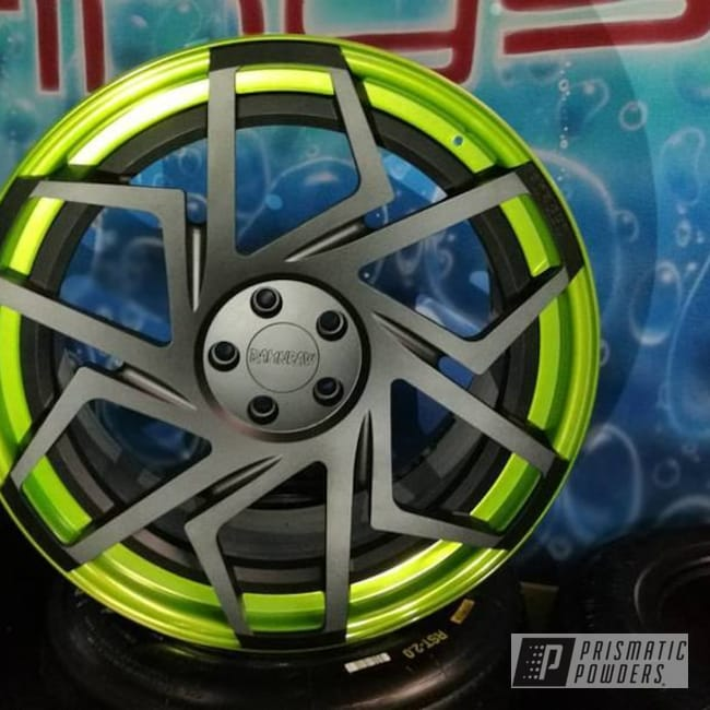 Damnraw Forged 3 Piece Wheels In Matt Black And Golden Apple Ii