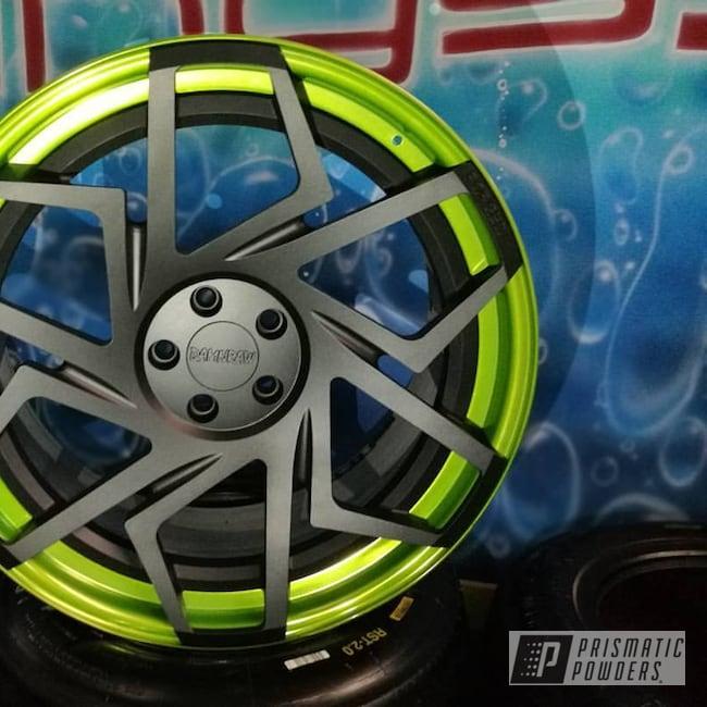 Powder Coating: Wheels,Automotive,Fan,20inch,3 Pieces,Two Tone Wheels,Golden Apple II PPB-4705,Two Toned,Powder Coat Wheels,Matt Black PSS-4455,Forged Wheels,Two Tone,Damnraw,Damnraw Forged Wheels
