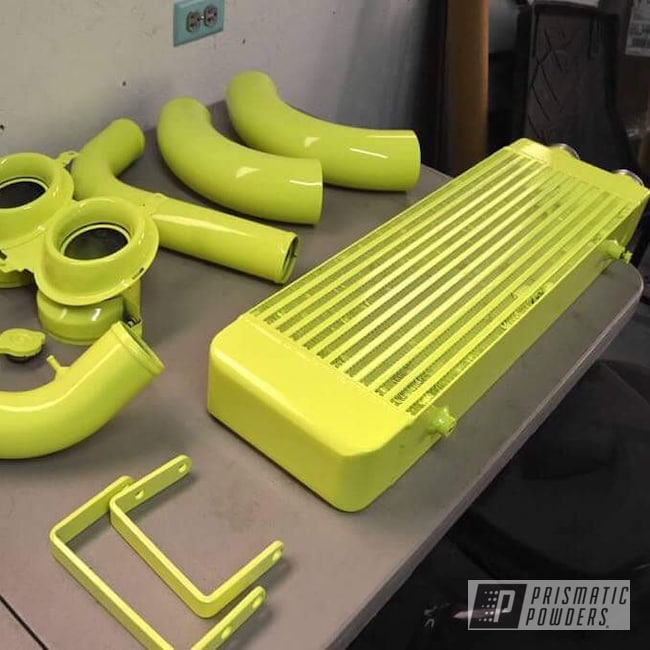 Powder Coating: Auto Parts,Automotive,Neon Yellow PSS-1104,Auto