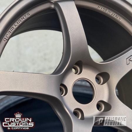 Powder Coating: Wheels,Automotive,Custom Wheels,RAYS Wheels,Bronze Chrome PMB-4124,Gram Light Wheels,Casper Clear PPS-4005,Gram Light