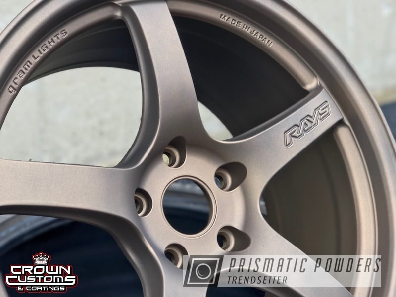 Powder Coating: Wheels,Automotive,Custom Wheels,RAYS Wheels,Bronze Chrome PMB-4124,Gram Light Wheels,Casper Clear PPS-4005,Gram Light