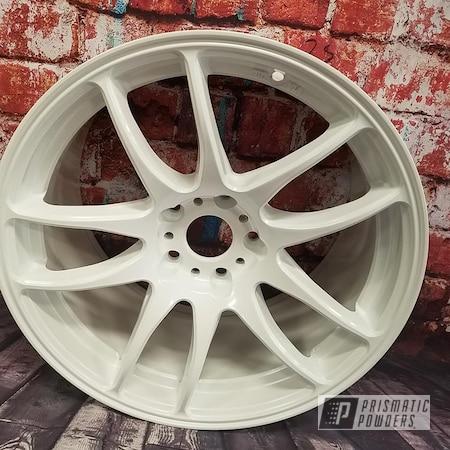 "Powder Coating: Wheels,Automotive,Custom Wheel,Pearlized White II PMB-4244,17"" Aluminum Rim"