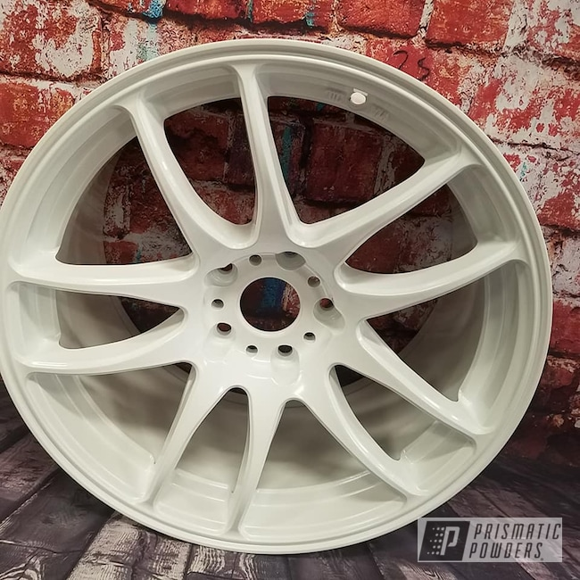 "Powder Coating: Wheels,Automotive,Custom Wheel,Pearlized White II PMB-4244,17"" Aluminum Rim"