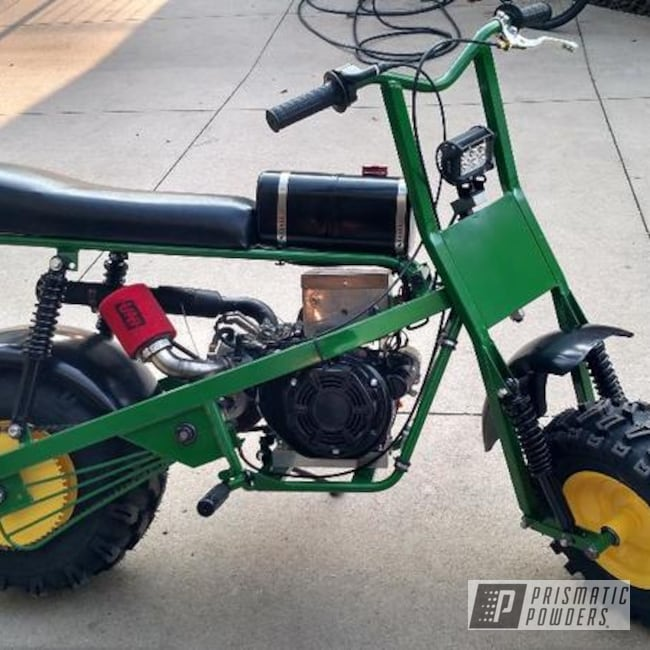 Powder Coating: Mini Bike,Tractor Green PSS-4517,RAL 1018 RAL-1018,Motorcycles,Dirt Bike,Trail Bike