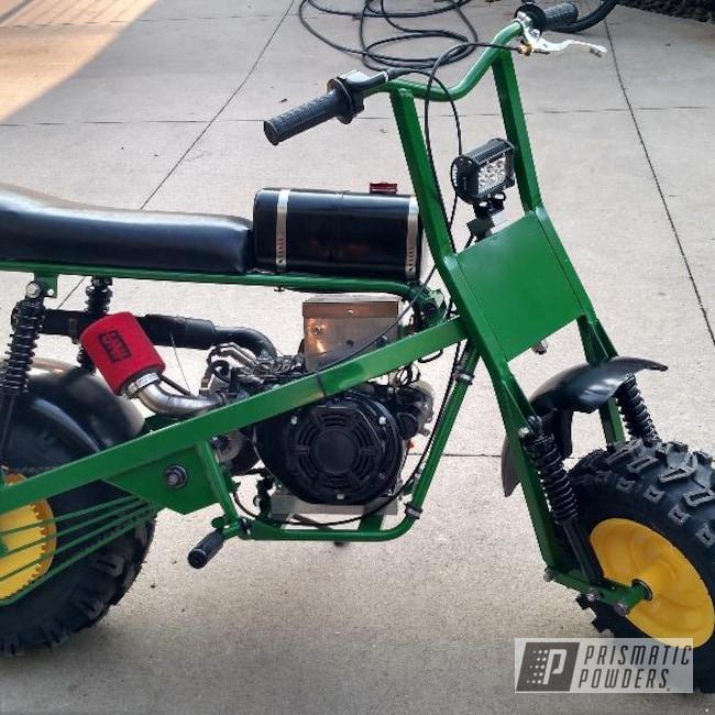 Powder Coating: Mini Bike,Tractor Green PSS-4517,RAL 1018 RAL-1018,Motorcycles,Dirt Bike,Trail Bike