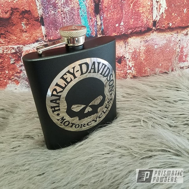 Powder Coating: STERLING BLACK UMB-1204,Skull,Flask Set,Punisher