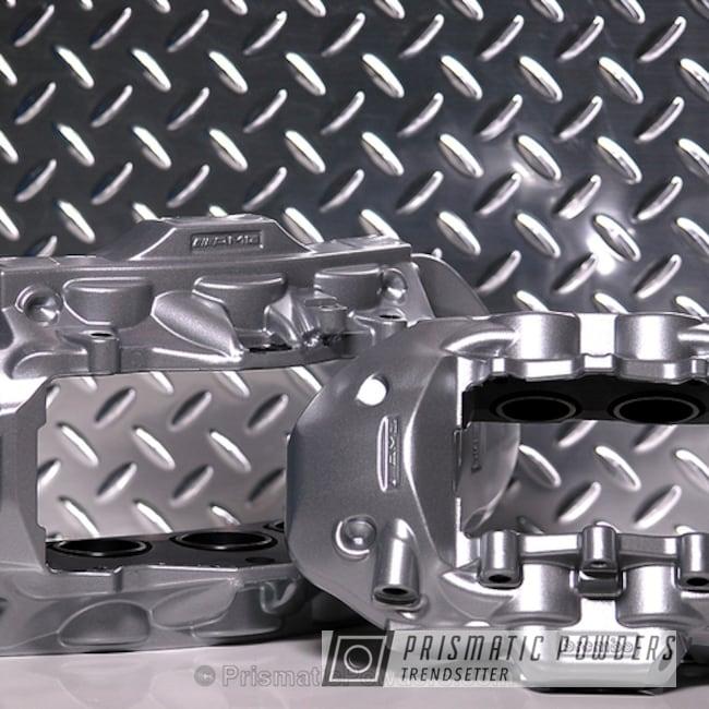 Powder Coating: Single Powder Application,Automotive,Pacific Silver PMB-2811,AMG,Solid Tone,Brembo Brake Calipers
