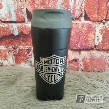 Powder Coated Harley Davidson Tumbler