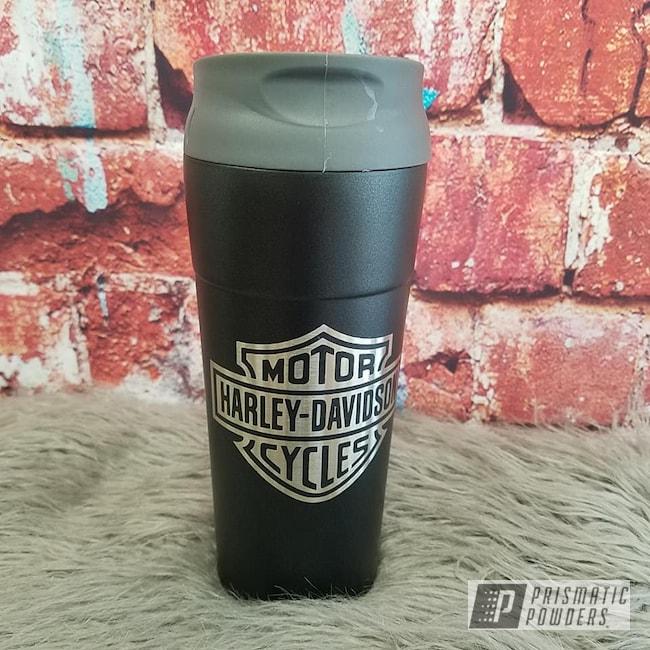 Powder Coating: Coffee Mug,Harley Davidson,Custom Cups,STERLING BLACK UMB-1204,Tumbler,Motorcycles