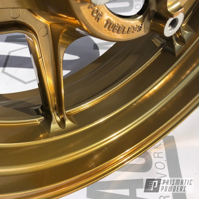 Powder Coating: Kawasaki,SUPER CHROME USS-4482,Motorcycle Rims,enkei,Kawasaki Motorcycle,Transparent Gold PPS-5139,17inch,Motorcycles