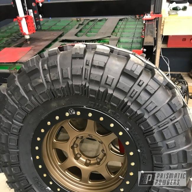 Wheels Done In A Yankee Gold Powder Coating