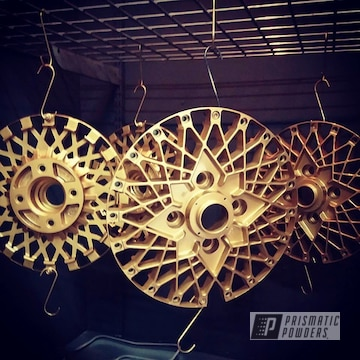 Epsilon Wheels Done  In A Gold Medallion Powder Coat