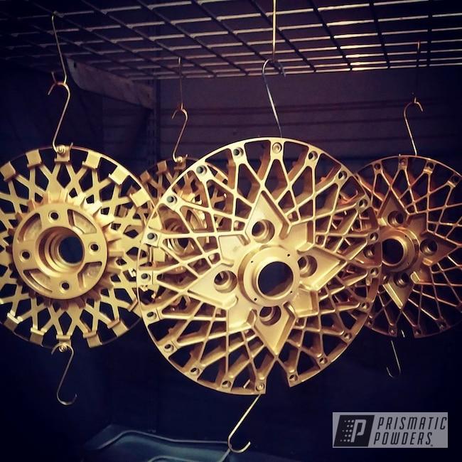 Powder Coating: Wheels,Gold Medallion EMB-4175,Epsilon,2 Piece Wheels,JDM,Gold