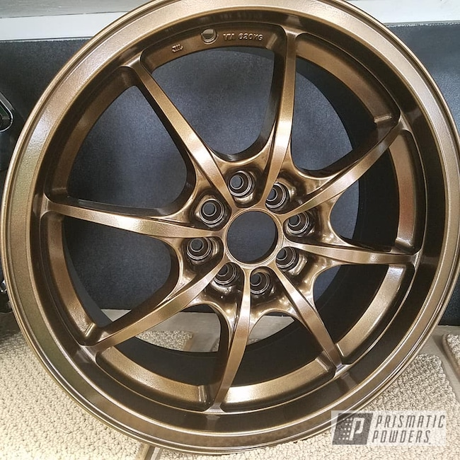 "Powder Coating: Wheels,Automotive,Custom Rims,Bronze Chrome PMB-4124,17"" Rim,Powder Coated Wheel"