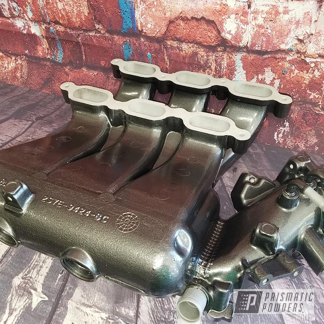 Powder Coating: Intake Manifold,Automotive,Kingsport Grey PMB-5027