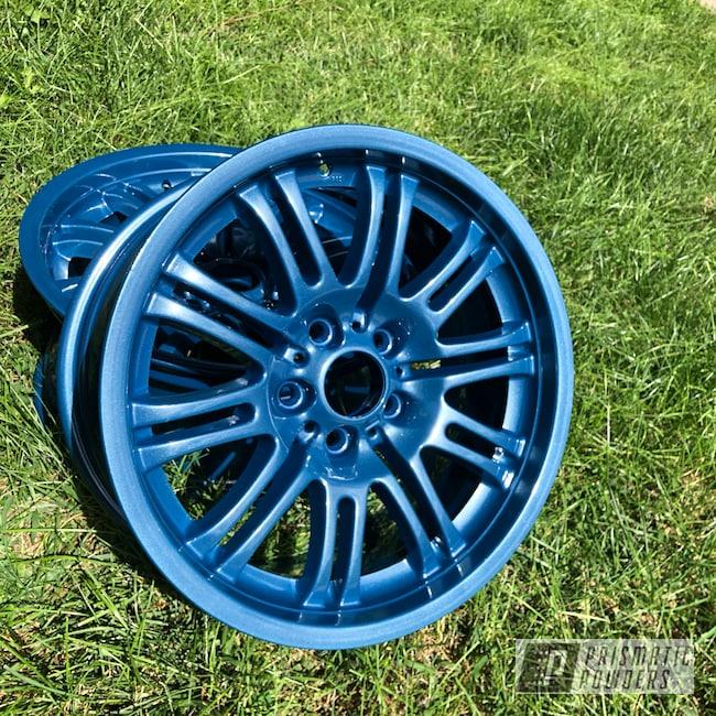 Powder Coating: Wheels,BMW Style 67 Wheels,Automotive,BMW,M3,Baltic Blue PMB-1683,18inch,Style67