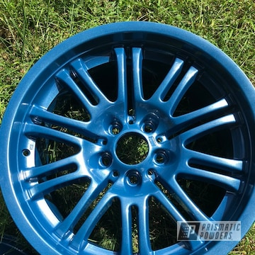 Powder Coated Blue Bmw Style67 M3 Wheels