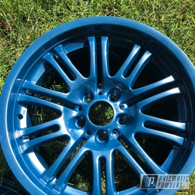Powder Coating: Wheels,BMW Style 67 Wheels,Automotive,BMW,M3,Baltic Blue PMB-1683,18inch,Style67