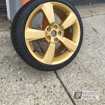 Subaru Sti Wheels Done In Poly Gold