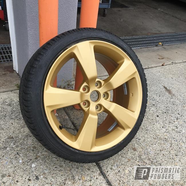 Powder Coating: Wheels,Automotive,STI,Aluminum Wheel,Poly Gold PMB-4211,Subaru,18inch