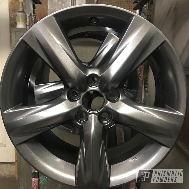 Powder Coating: Wheels,Automotive,Lexus,Kingsport Grey PMB-5027,18inch