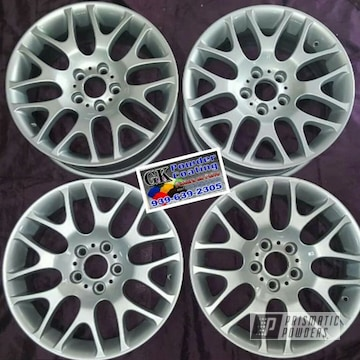 Powder Coated Bmw Wheels In Bmw Silver And Clear Vision