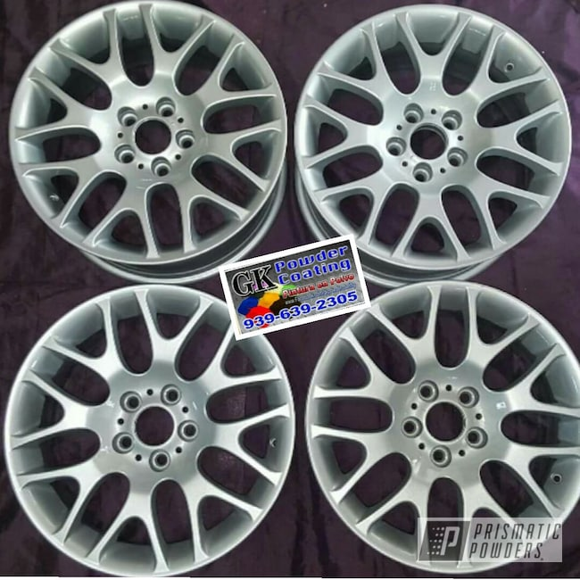 Powder Coating: Wheels,BMW Silver PMB-6525,Automotive,Clear Vision PPS-2974,BMW,18inch
