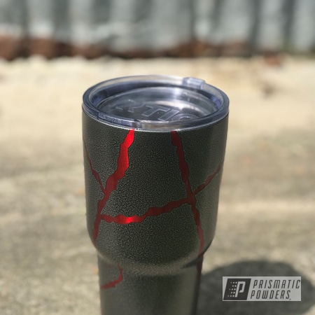 Powder Coating: Textured Finish,Custom Cup,Rancher Red PPB-6415,Textured,Silver Artery PVS-3014