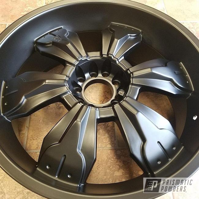 """Powder Coating: Automotive,BLACK JACK USS-1522,Custom Wheels,Powder Coated Wheels,22"""" Aluminum Rims"""