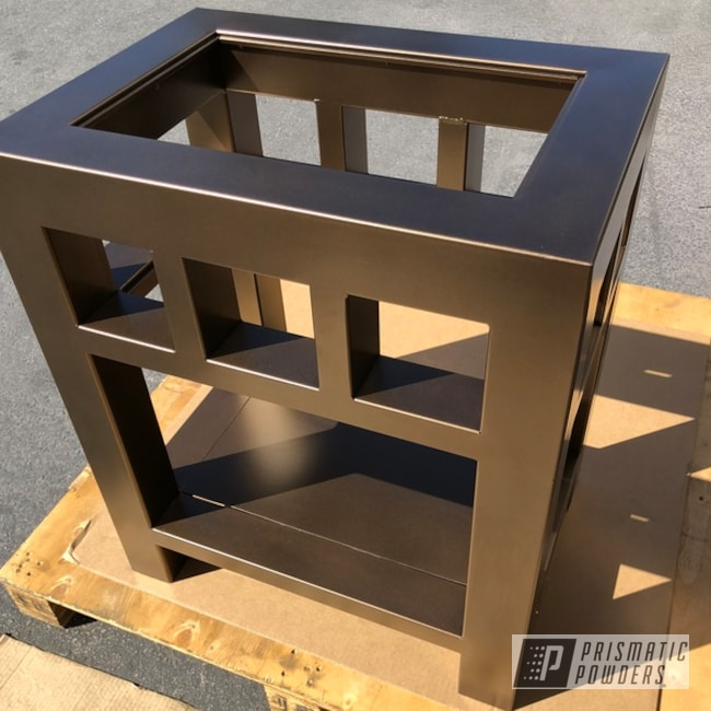 Powder Coating: Nightstand,TRIPLE BRONZE UMB-4548,Decorative Furniture,Furniture