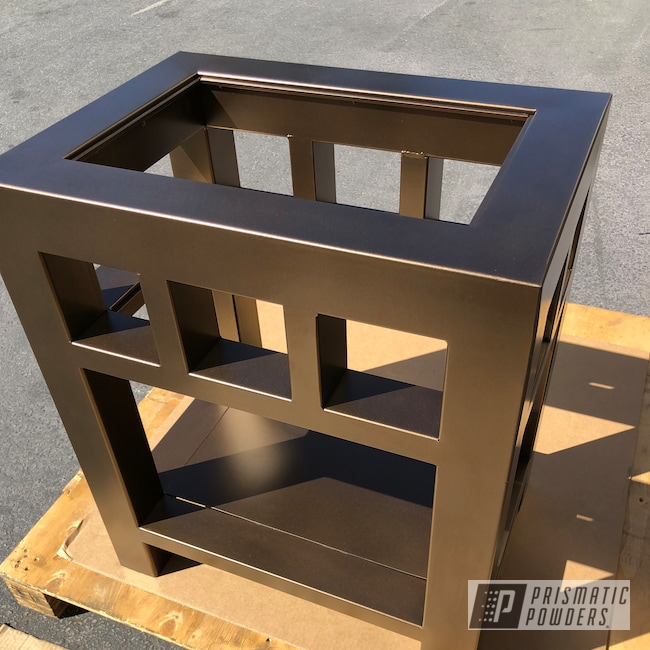 Powder Coating: Nightstand,TRIPLE BRONZE UMB-4548,Decorative Furniture,Furniture