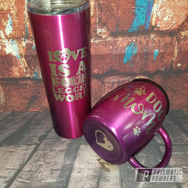 Powder Coating: Coffee Mug,Custom Cups,Drinkware,Two Color Application,Dogs,Lollypop Purple PPS-1505,LOLLYPOP BERRY UPS-1509