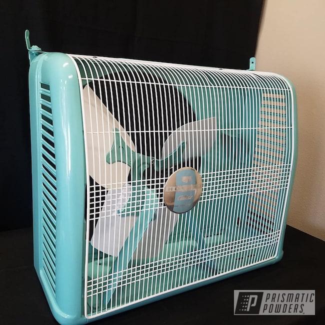 Powder Coating: Tropical Breeze PSS-6837,Fan,Vintage,Restoration,Gloss White PSS-5690