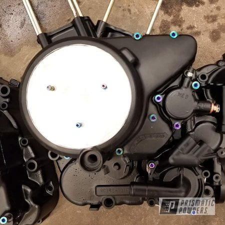 Powder Coating: BLACK JACK USS-1522,Honda Motorcycle,Motorcycles,Engine Parts