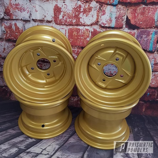 Powder Coating: Off Road,Goldtastic PMB-6625,ATV,Quad Parts,Powder Coat Wheels