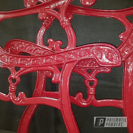 Powder Coating: RAL 3001 Signal Red,Patio Furniture,Decorative Bench,Cast Iron,lawn furniture,Park Bench