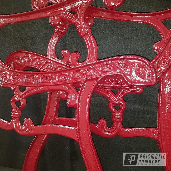 Powder Coating: Patio Furniture,Decorative Bench,Cast Iron,RAL 3001 RAL-3001,lawn furniture,Park Bench