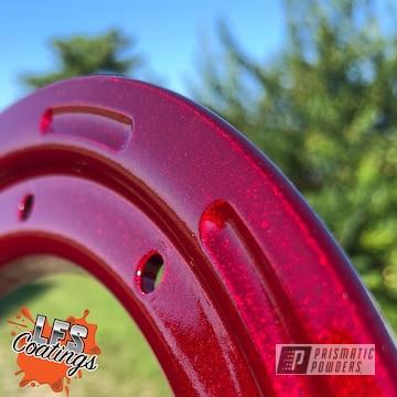 Powder Coated Metallic Red Beadlock Ring