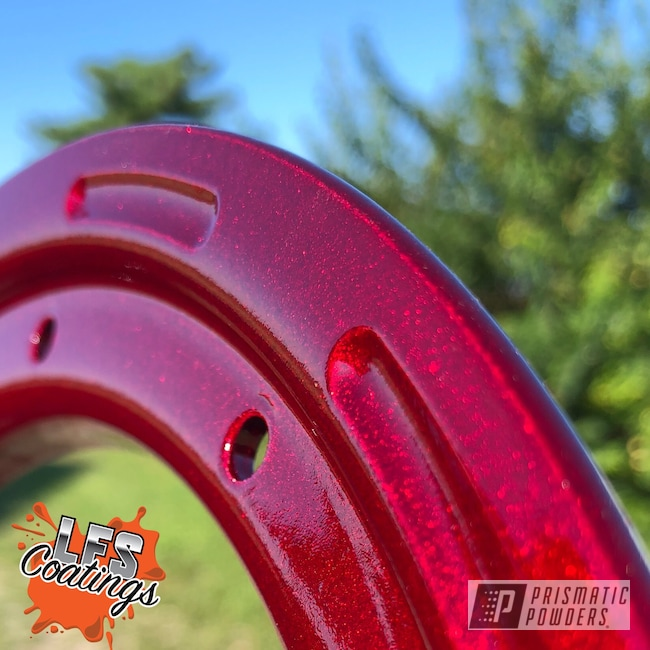 Powder Coating: Clear Vision PPS-2974,Beadlock Ring,Illusion Cherry PMB-6905