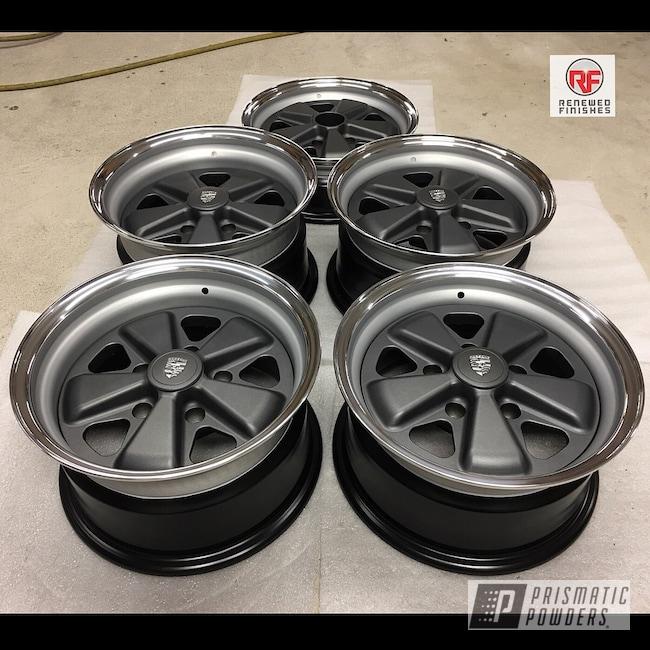 Powder Coating: Wheels,BMW Silver PMB-6525,Automotive,Silver Graphite PTB-5746,Porsche,3pc Wheels
