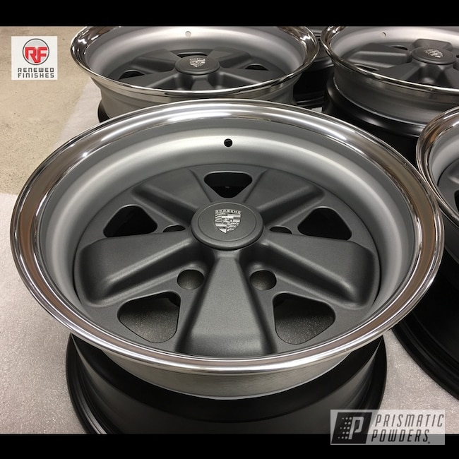 Powder Coating: Wheels,BMW Silver PMB-6525,Automotive,Silver Graphite PTB-5746,Porsche,3pc Wheels