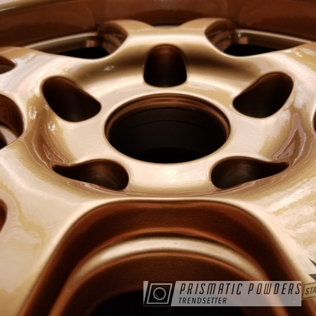 Powder Coating: Illusion True Copper PMB-10044,Wheels,Automotive,Clear Vision PPS-2974,Powder Coat Wheels