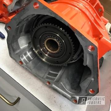Powder Coated Dodge Mopar Orange Transmission Case