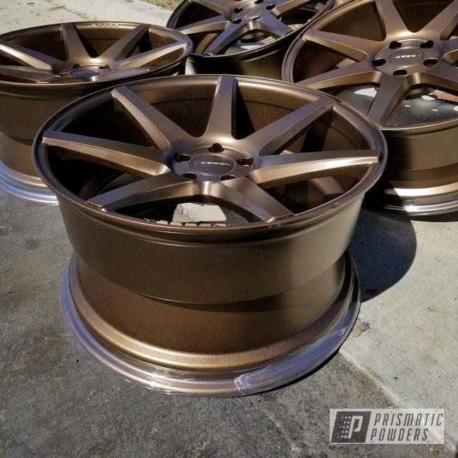 Powder Coating: Wheels,Automotive,TRIPLE BRONZE UMB-4548,Auto Anthracite Polychem