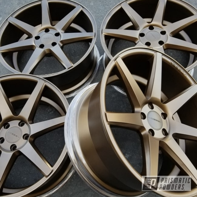 Powder Coating: Wheels,Automotive,TRIPLE BRONZE UMB-4548,Auto Anthracite Polychem