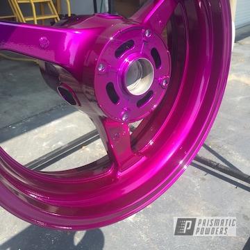 Powder Coated Violet Purple Motorcycle Wheels