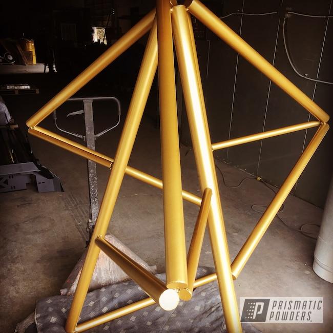 Powder Coating: Sculpture,Art,Gold Bar Gold HMB-2225