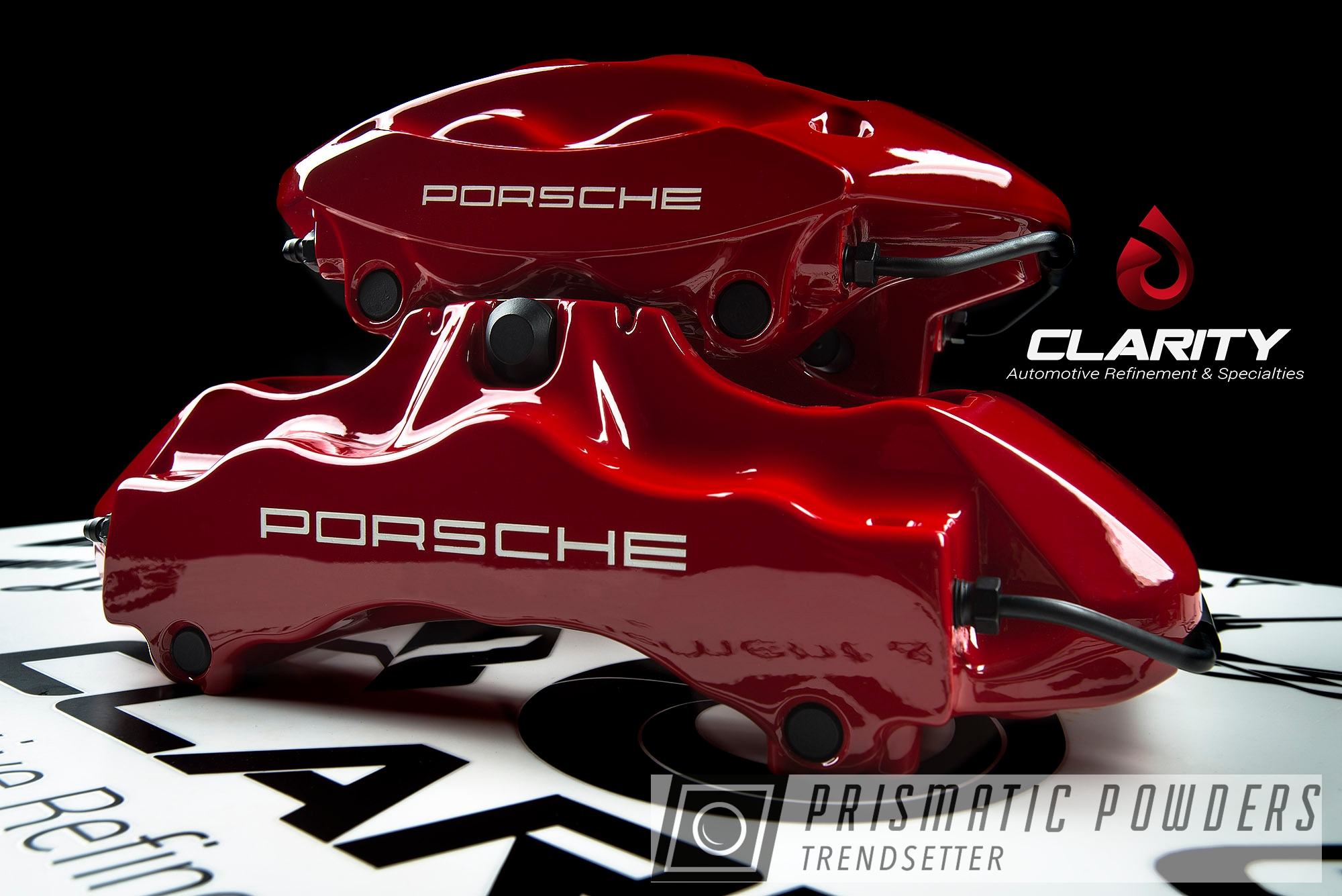 Powder Coating: Red Wheel PSS-2694,Automotive,Clear Vision PPS-2974,911T,Porsche,Custom Automotive Brake Calipers,Custom Brakes,brakecalipers